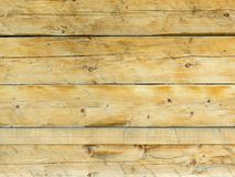 Natural brown barn wood wall. Rough horizontal planks Royalty Free Stock Photo