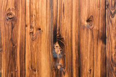 Natural brown barn wood wall. Wall organic texture background pattern. Royalty Free Stock Photography