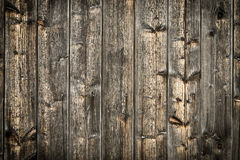 Natural brown barn wood wall. Wooden textured background pattern. stock image