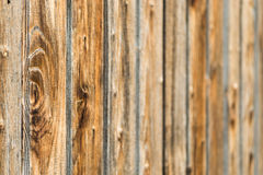 Natural brown barn wood wall. Wooden textured background pattern. Stock Photography
