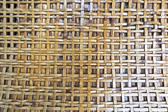 A Natural brown basketwork texture.  Royalty Free Stock Image