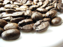 Natural brown coffee beans 2 royalty free stock photos