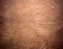Natural brown leather texture Stock Images