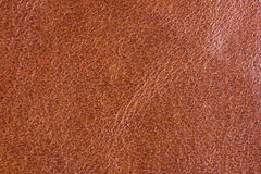 Natural brown leather texture Royalty Free Stock Photography