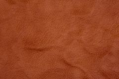 Natural brown leather texture. Royalty Free Stock Photography
