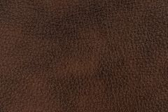 Natural brown leather texture. Royalty Free Stock Photos