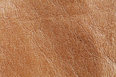 Natural brown leather textured pattern background. Macro view photo Royalty Free Stock Photo