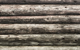 Natural brown log cabin wood wall. Wall texture background pattern. Wood planks, boards are old with a beautiful rustic look, style royalty free stock image