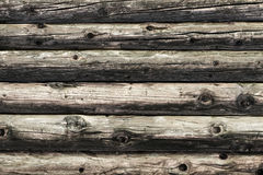 Natural brown log cabin wood wall. Wall texture background pattern. Stock Photo