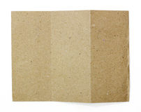 Natural brown recycled paper Royalty Free Stock Photo