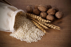 Natural brown rice Stock Images