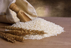 Natural brown rice Royalty Free Stock Photos