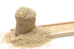 Natural brown rice Stock Photography