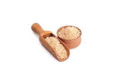 Natural brown rice Royalty Free Stock Images