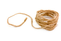 Natural  brown rope Stock Photo