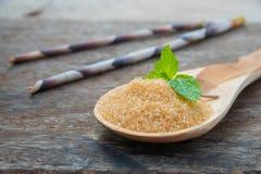 Natural brown sugar Royalty Free Stock Photography