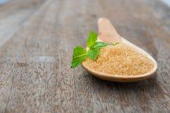 Natural brown sugar Stock Image