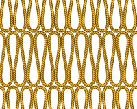 Natural brown twine rope in curls geometric seamless pattern, vector. Background Stock Photo