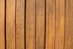 Natural brown wood lath line arrange pattern texture background royalty free stock image
