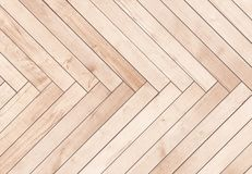 Natural brown wooden parquet herringbone. Wood texture. Stock Photography
