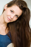 Natural brunette beauty. Stock Photography