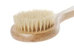 Natural brush for washing. In bathroom isolated on white background Stock Photo