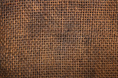 Natural burlap hessian sacking Stock Photography