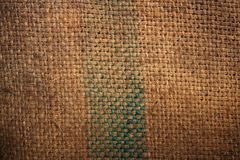 Natural burlap hessian sacking Royalty Free Stock Photos