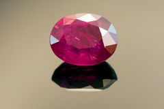 Natural Burmese Ruby With Inclusions Stock Photo