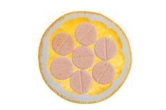 Natural C vitamin and orange slice Stock Images
