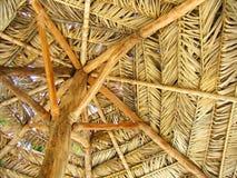 Natural Cabana Umbrella Royalty Free Stock Images