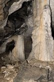 Natural cave columns Royalty Free Stock Photography