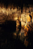 Natural cave. Lake in the Drach natural caves in the island of Majorca, Spain Royalty Free Stock Photography