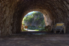 Natural cave in the Zingaro reserve Stock Photography