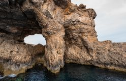Comino Caves Natural Malta royalty free stock images