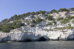 Natural caves in the south coast of Menorca Royalty Free Stock Photo
