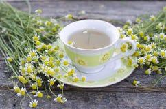 Natural chamomile tea stock photo