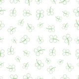 Natural Chamrock Texture. Cartoon Clover Leaves Royalty Free Stock Image