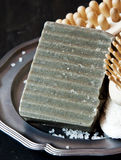 Natural Charcoal Soap Royalty Free Stock Photography