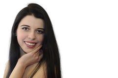 Natural cheerful beauty Stock Photos