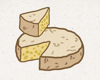 Natural cheese illustration Stock Photo