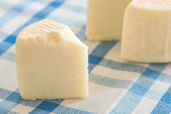 Natural cheese on tablecloth Royalty Free Stock Images