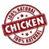 Natural chicken meat stamp Royalty Free Stock Image