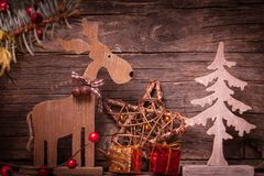 Natural christmas decor Stock Photo