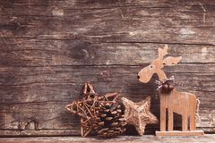 Natural christmas decor Royalty Free Stock Image