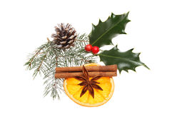 Natural Christmas decoration Stock Photos