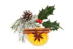 Natural Christmas decoration Stock Photos