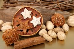 Natural christmas still-life Royalty Free Stock Images