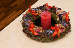 Natural Christmas wreath Royalty Free Stock Photography