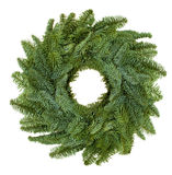 Natural Christmas wreath. Christmas wreath isolated on white background stock photo